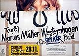 WESTERNHAGEN, MARIUS MÜLLER - 1981 - Konzertplakat - Stinker - Tourposter - Berl