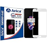 AVICA® Full Edge To Edge White 3D Curved Tempered Glass Screen Protector For One Plus 5 / One Plus Five/OnePlus 5