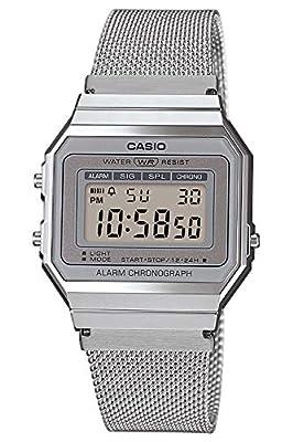 Casio Reloj Mujer de Digital con Correa en Acero Inoxidable A700WEM-7AEF de CASIO