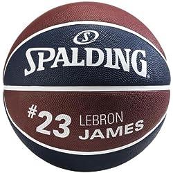 Spalding Nba Player Lebron James Sz.7 83-349Z - Balón de baloncesto, color azul marino, talla 7