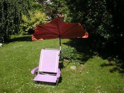 Chaise de plage sTABIELO chaise longue avec 6 positions dossier de siège lIEGEPOSITION- sTUHLFARBE lilas fächerschirm tERRA exklusiv-housse de haute-protection anti-uV par 160 grammes de polyester, à hUSUM zangenberg (ou 18 coloris au choix sur demande) 360° rotatif holly unihalterung gummischutzkappen dans chaque position à installer à facilement pliable portable v jUBILÄUMSAUSGABE-léger - 2,5 kg-holly ® produits sTABIELO-innovation fabriqué en allemagne