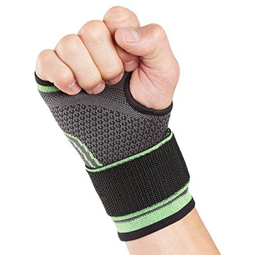 Actesso Handgelenk-Stützbandage Sport-HandgelenkStütz für sportliche aktivitäten (Klein- Grün). Ideal bei zerrungen des handgelenks. Ausgezeichneter halt ohne Beschränkung der Flexibilität