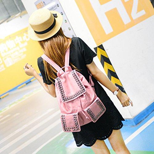 DJB/Soft Washed Leder Taschen Frauen Taschen Trends Rucksack rose