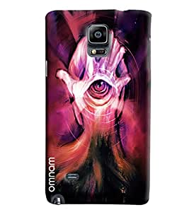 Omnam Hand And Eye On Mind Effect Printed Designer Back Cover Case For Samsung Galaxy Note 4 N9100