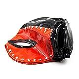 Kopfmaske Augenmaske Damen Herren Latex Katze sm Bondage Fetisch Sex Spielzeug Sklavinen Für Anfänger Paare , Schwarz-Rot