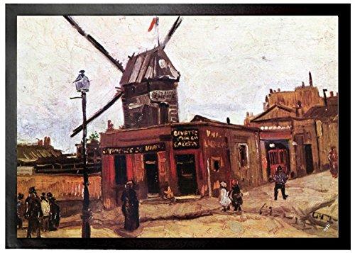 Vincent Van Gogh - El Molino De La Galette IV, 1886 Felpudo Alfombrill