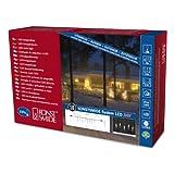 Konstsmide 4612-103 LED Hightech System Erweiterung: LED Eiszapfen Lichtervorhang 100 warm weiße Dioden / transparent