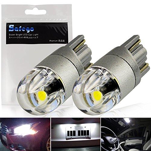 Safego 2x T10 501 W5W 2SMD 3030 Auto Lampe Blanc 6000K Extérieur Feu de Jour 12V 168 194
