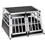 Voltoo Alu Hundebox Transportbox Hundetransportbox 1-Türig Reisebox Autotransportbox Kofferraumbox Gitterbox Hundekäfig für Haustier