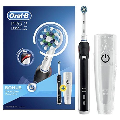Oral-B Elektrische Zahnbürste, Kunstoff, Weiß/Schwarz, 17 x 8 x 8 cm, 1 Einheiten (Flecken Schwarze Zwei)