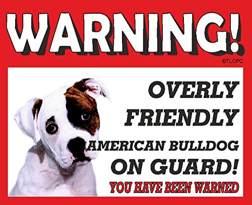The Lazy Cow American Bulldog GUARD DOG METAL SIGN 7