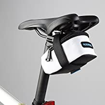 MaxCrest (TM) ROSWHEEL Fixed Gear Fixie bicicleta de carretera bicicleta MTB tija sillín asiento trasero Ciclismo Bolsa de cola bolsa paquete M/L tamaño, color blanco, tamaño mediano
