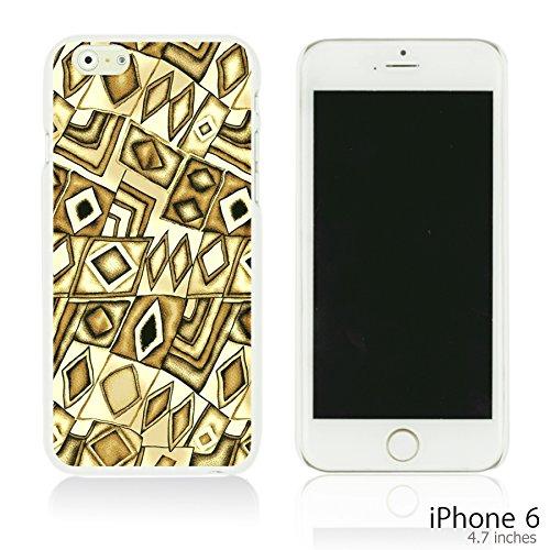 OBiDi - Geometrical Pattern Hardback Case / Housse pour Apple iPhone 6 / 6S (4.7 inch)Smartphone - Funny Tribal Print Brown Diamond Pattern
