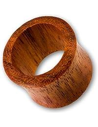 Fly Style® - 1 Stück - Flesh Tunnel aus rotem Merantiholz