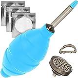 Blasebalg Extra Stark mit Staubfilter Staubreiniger Blau Air Blower Geeignet für Kamera, Objektive, Sensor, Tastatur, Smartphone von JJC