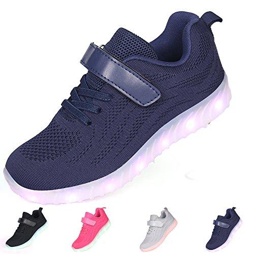 adituob Kinder LED Schuhe - Licht Auf Casual Schuhen Mode Atmungsaktives Mesh Blinkende Turnschuhe Ausbilder Outdoor - Schuhe Die Jungen Der Junge Dchen - Wechseln Sie In Der Zeit