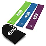 CKB LTD® Set de 3 Resistance Bands Set Loop Bands Bande de Resistance Équipement d'Exercices pour Musculation Bandes Élastiques pour Fitness Latex, Pilates Yoga Physiothérapie Flexibilité Réeducation