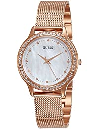 Guess Damen-Armbanduhr Ladies Dress Analog Quarz Edelstahl W0647L2