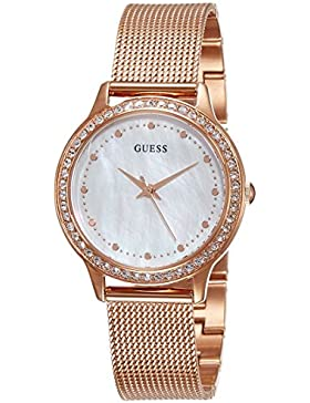 Guess Damen-Armbanduhr Ladies Dress Analog Quarz Edelstahl W0647L2