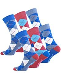 "6 paire de Hommes Trendy Chaussettes Casual ""Multicolor - ARGYLE"" originale Vincent Creation®"