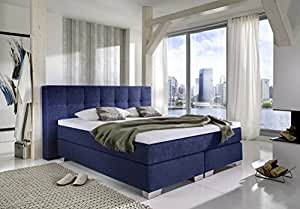 boxspringbett dorinta 180x200 cm in stoff blau 1953 von breckle k che haushalt. Black Bedroom Furniture Sets. Home Design Ideas