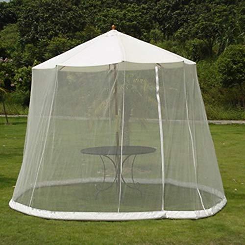 GLXQIJ Outdoor-Gartenschirm Tisch Screen Parasol Moskitonetz Abdeckung Bug Netting Cover, Pavillon Baldachin Moskitonetz,White,300x220cm