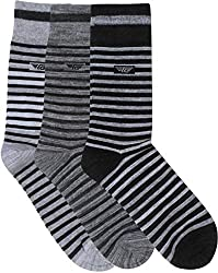 Red Tape Mens Striped Crew Length Socks