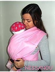 Porte bébé ECHARPE DE PORTAGE neuve ROSE BONBON idée cadeau naissance