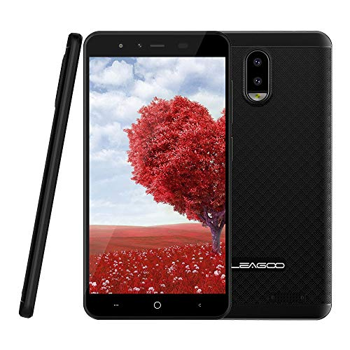 Telefono movil Libres Buenos Chinos 4g Smartphone leagoo z7 5 Pulgadas WiFi Bluetooth TF 32 GB Amplificador Dual sim 8gb ROM 5mp Camera Android Mobile,Negro