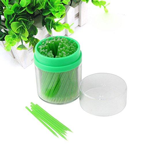 Westeng 210pcs Corn Zahnstocher - grün essbare Maisstärke Zahnstocher Zahnstocher grüne und gesunde Umwelt