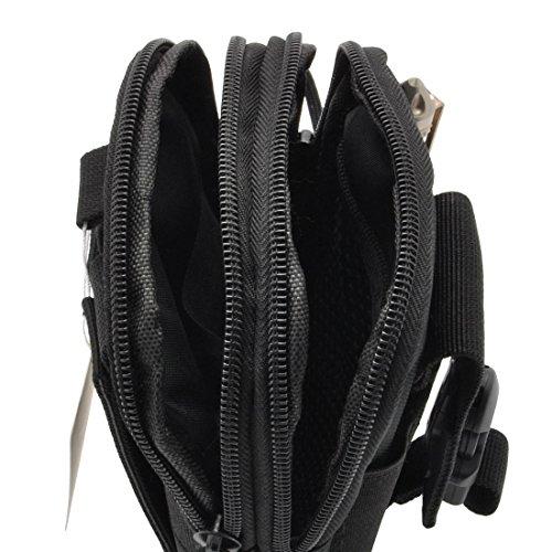 Tactical MOLLE POUCH Mehrzweck Compact EDC Utility Gadget Gürtel Wasserdicht Nylon Camo Tasche mit Handy Pack Gear, Organizer Schwarz