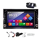 Windows 8.0 Conception 6.2 pouces Double DIN de navigation GPS pour Universal 2 Din En voiture Dash Video Audio Radio Auto Stereo + gratuit + Carte GPS Free Backup cam¨¦ra