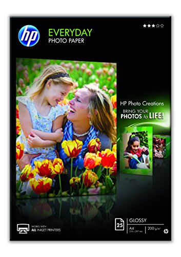 HP Everyday Q5451A - Papel fotográfico brillante (25 hojas, A4)