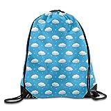 LoveBiuBiu Cute Clouds Cool Teens Drawstring Backpack Lightweight String Bags Gym Cute Clouds 202