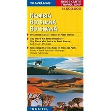 Reisekarte : Namibia - Botswana