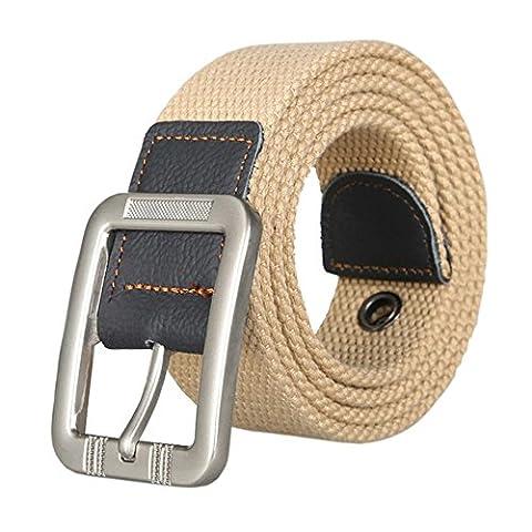 Waist Belt Web Belt Canvas Belt Woven Belt for Men and Women Jeans Belts