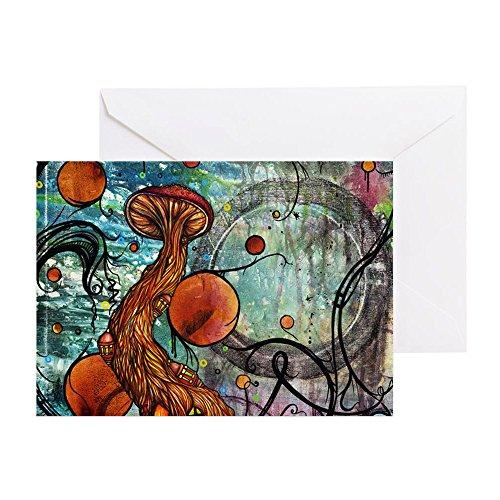 Press Duschvorhänge, Cafe (CafePress–Dwell Dusche Vorhang–Grußkarte, Note Karte, Geburtstagskarte, innen blanko, glänzend)