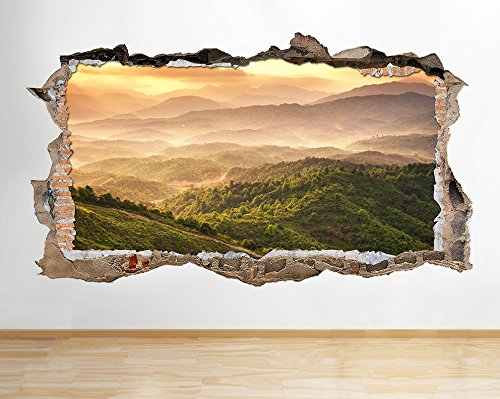 e144-mountains-forest-trees-nature-valley-wall-decal-poster-3d-art-stickers-vinyl-roomhuge-100x175cm
