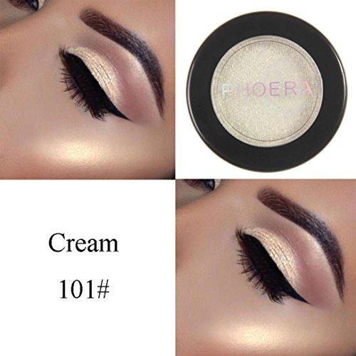 Lidschatten, FEITONG Make-up Metallische Glänzende Augen Lidschatten Wasserdichte Glitter Lidschatten #01