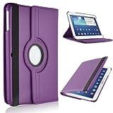 360° Grad drehbar PU Leder Folio Stand Schutzhülle für Samsung Galaxy Tab 4(10.1) SM-T530T535Tablet violett