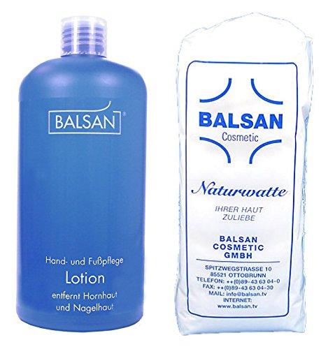 Balsan Hand- und Fußpflege Lotion 500 ml + Watte