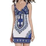b1aea2e38ed3 Familizo Donna Abito Abito Estivo Le donne del vestito da estate africana  vestito dalla stampa diritto