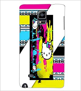 PrintDhaba Graffiti D-2928 Back Case Cover for SAMSUNG GALAXY NOTE 2 (Multi-Coloured)