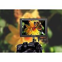 """Feelworld FH7 Caméra Monitor 7"""" 4K HDMI Ultra HD 1920x1200 Champ Vidéo LCD IPS écran 1200:1 Rapport de Contraste élevé pour CAM Steady, DSLR Rig, Kit Caméscope, Stabilisateur de Poche"""