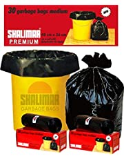 Shalimar Premium OXO - Biodegradable Garbage Bags (Medium) Size 48 cm x 56 cm 6 Rolls (180 Bags) (Black Colour)