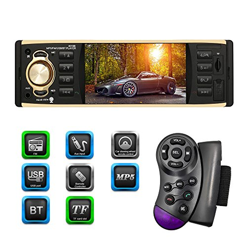 KKmoon 4.1 Pollici Universale TFT HD Autoradio Schermo Digitale MP5 Player Multimedia Intrattenimento BT USB/TF FM Aux Comando a Distanza del Volante