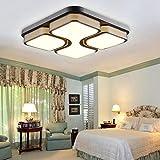 ETiME 24W Design LED Deckenlampe warmweiß LED Deckenleuchte Wohnzimmer Lampe Schlafzimmer Küche Leuchte 2700K Schwarz Quadratform (43x43cm 24W Warmweiß)
