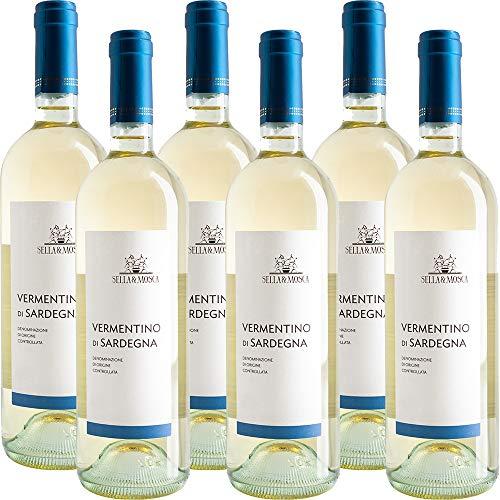 Vermentino di Sardegna | Sella e Mosca | Vino Bianco della Sardegna | 6 Bottiglie 75Cl | Idea Regalo