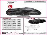Proposteonline portabagagli Box Tetto Auto 198 x 89 x 39 cm per Fiat Freemont 2011  con Barre Portapacchi portatutto ac14tp