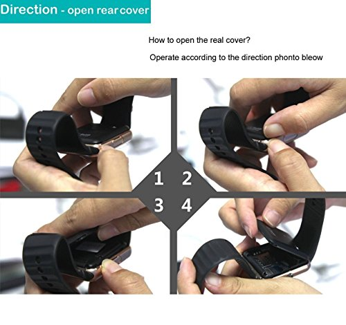 YAMAY Bluetooth Smartwatch Fitness Uhr Intelligente Armbanduhr Fitness Tracker Smart Watch Sport Uhr mit Kamera Schrittzähler Schlaftracker Romte Capture Kompatibel mit Android Smartphone - 6